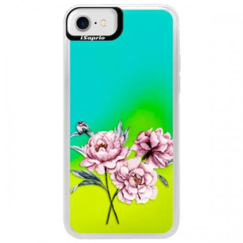 Neonové pouzdro Blue iSaprio - Poeny - iPhone 7