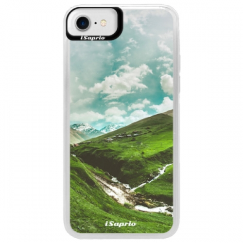 Neonové pouzdro Blue iSaprio - Green Valley - iPhone 7