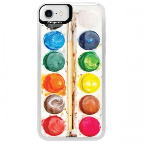 Neonové pouzdro Blue iSaprio - Watercolors - iPhone 7