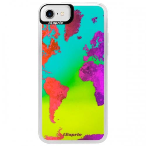 Neonové pouzdro Blue iSaprio - Warm Map - iPhone 7