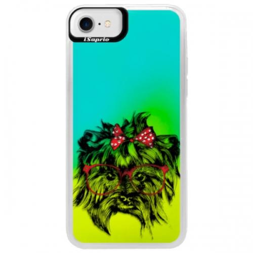 Neonové pouzdro Blue iSaprio - Dog 03 - iPhone 7