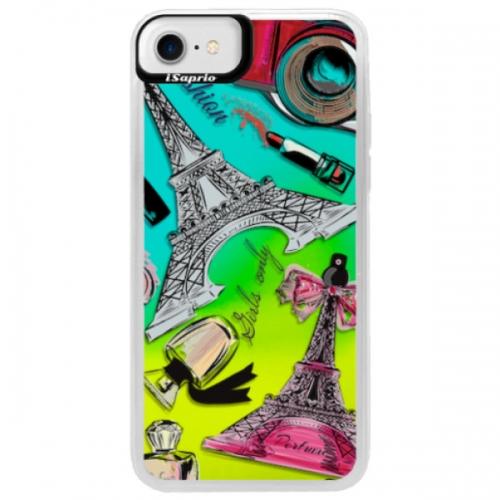Neonové pouzdro Blue iSaprio - Fashion pattern 02 - iPhone 7