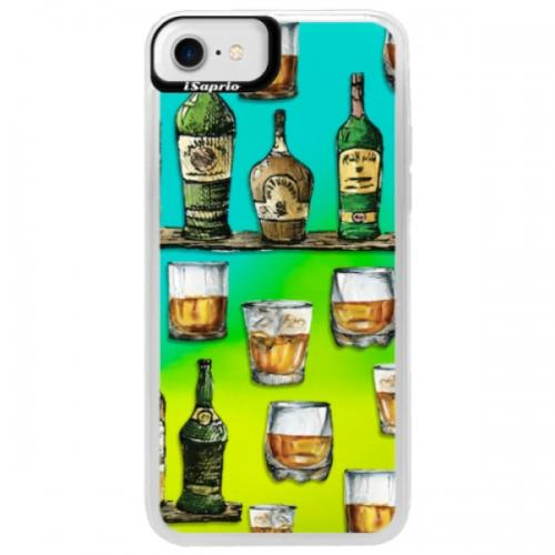 Neonové pouzdro Blue iSaprio - Whisky pattern - iPhone 7