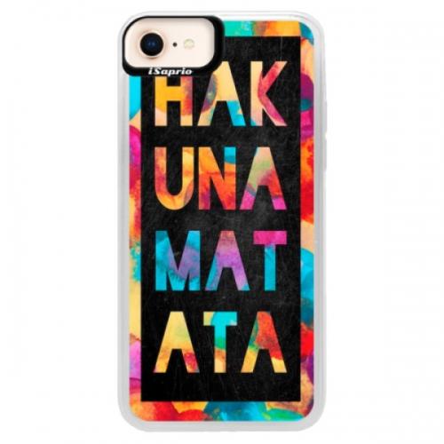 Neonové pouzdro Pink iSaprio - Hakuna Matata 01 - iPhone 8