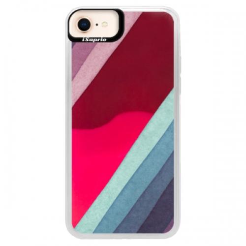 Neonové pouzdro Pink iSaprio - Glitter Stripes 01 - iPhone 8