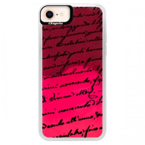 Neonové pouzdro Pink iSaprio - Handwriting 01 - black - iPhone 8
