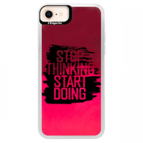 Neonové pouzdro Pink iSaprio - Start Doing - black - iPhone 8