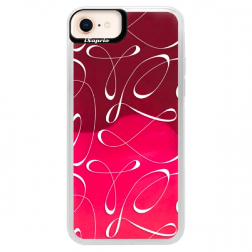 Neonové pouzdro Pink iSaprio - Fancy - white - iPhone 8
