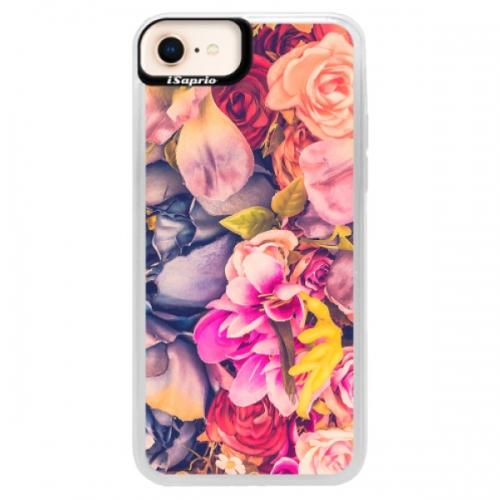 Neonové pouzdro Pink iSaprio - Beauty Flowers - iPhone 8