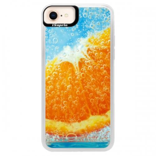 Neonové pouzdro Pink iSaprio - Orange Water - iPhone 8
