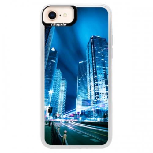 Neonové pouzdro Pink iSaprio - Night City Blue - iPhone 8