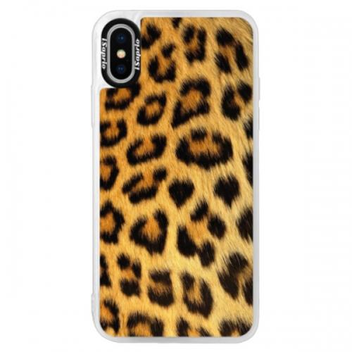 Neonové pouzdro Pink iSaprio - Jaguar Skin - iPhone X
