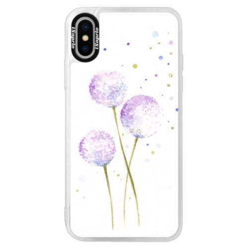 Neonové pouzdro Pink iSaprio - Dandelion - iPhone X