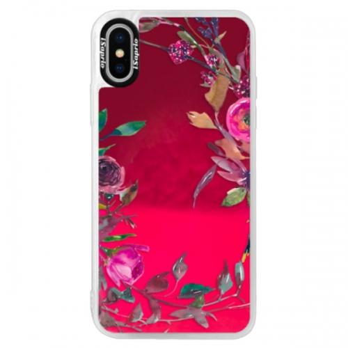 Neonové pouzdro Pink iSaprio - Herbs 01 - iPhone X