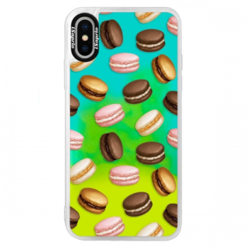 Neonové pouzdro Blue iSaprio - Macaron Pattern - iPhone X