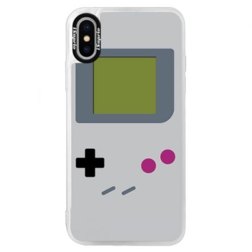 Neonové pouzdro Blue iSaprio - The Game - iPhone X