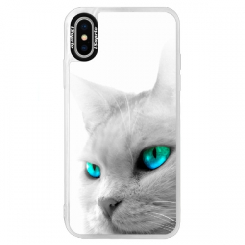 Neonové pouzdro Blue iSaprio - Cats Eyes - iPhone X