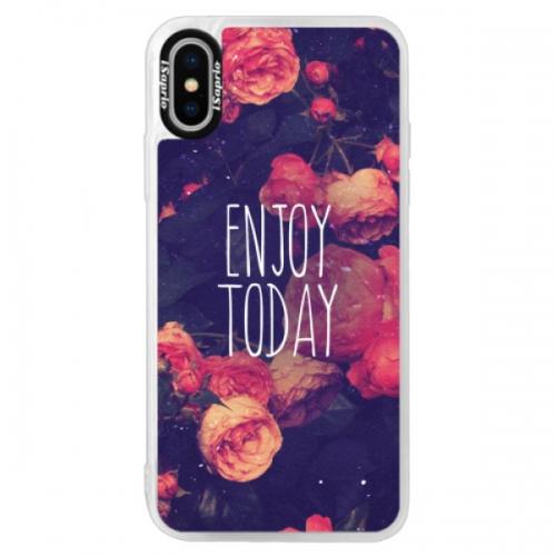 Neonové pouzdro Blue iSaprio - Enjoy Today - iPhone X