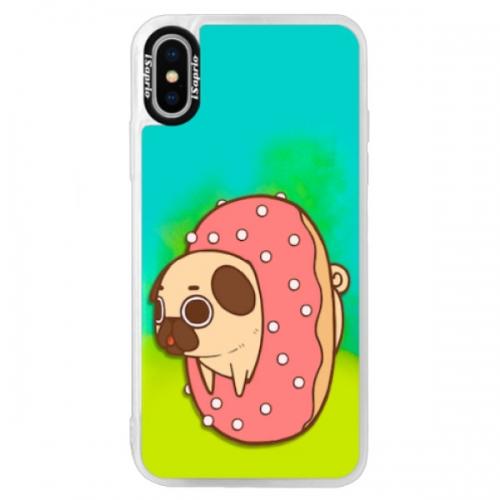 Neonové pouzdro Blue iSaprio - Dog 04 - iPhone X