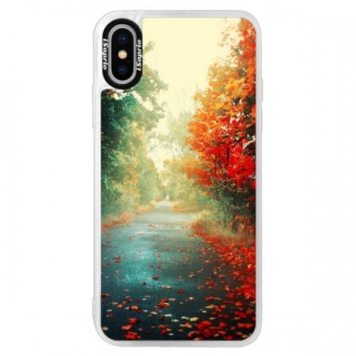 Neonové pouzdro Pink iSaprio - Autumn 03 - iPhone XS