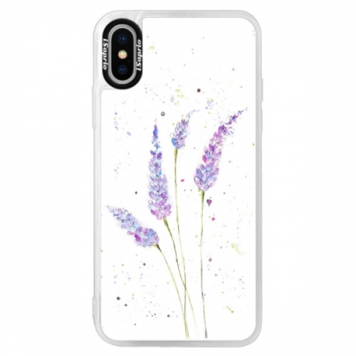 Neonové pouzdro Pink iSaprio - Lavender - iPhone XS