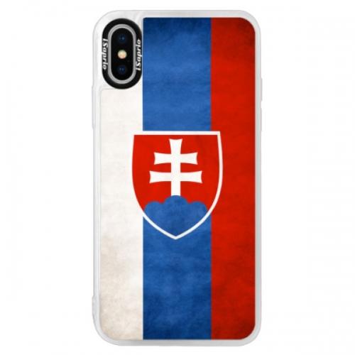 Neonové pouzdro Pink iSaprio - Slovakia Flag - iPhone XS
