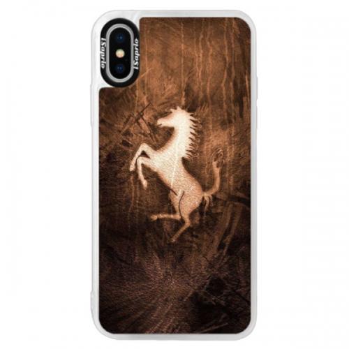 Neonové pouzdro Pink iSaprio - Vintage Horse - iPhone XS