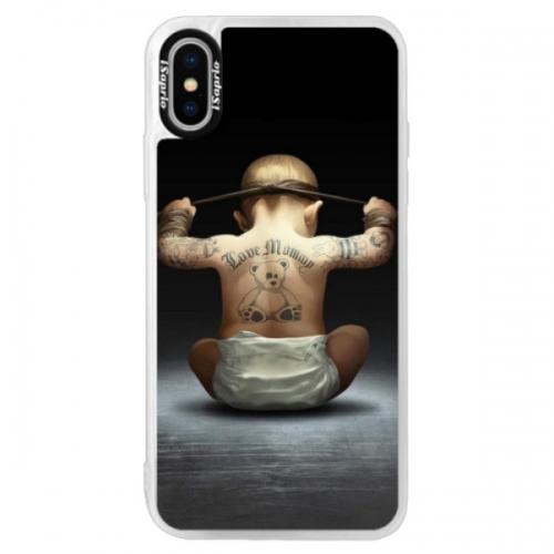 Neonové pouzdro Pink iSaprio - Crazy Baby - iPhone XS