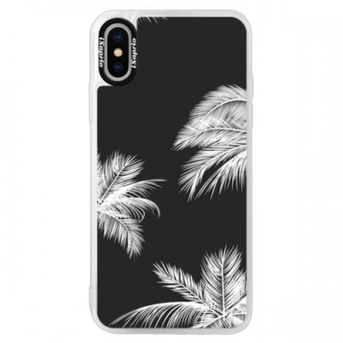 Neonové pouzdro Pink iSaprio - White Palm - iPhone XS
