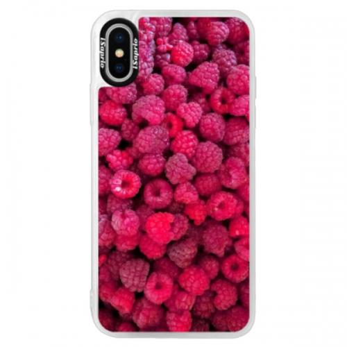Neonové pouzdro Pink iSaprio - Raspberry - iPhone XS