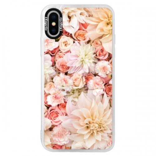Neonové pouzdro Pink iSaprio - Flower Pattern 06 - iPhone XS