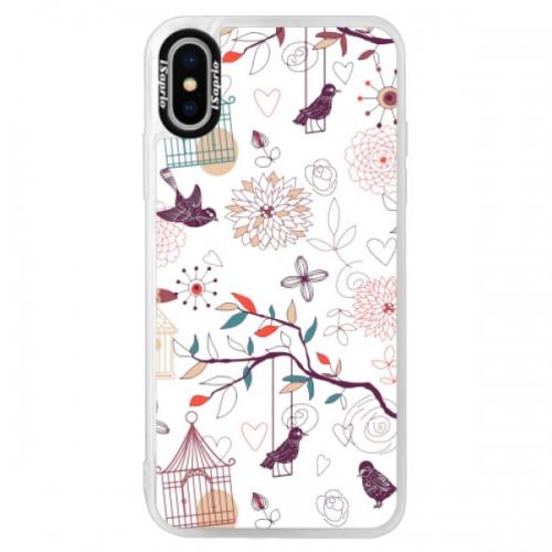 Neonové pouzdro Pink iSaprio - Birds - iPhone XS