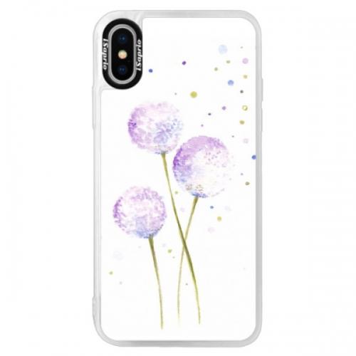 Neonové pouzdro Pink iSaprio - Dandelion - iPhone XS