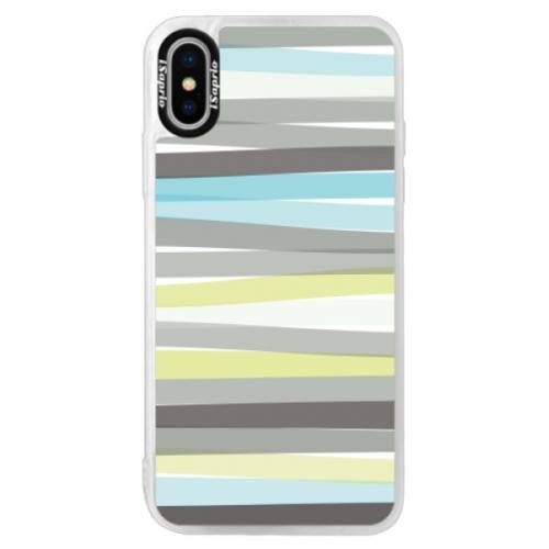 Neonové pouzdro Pink iSaprio - Stripes - iPhone XS