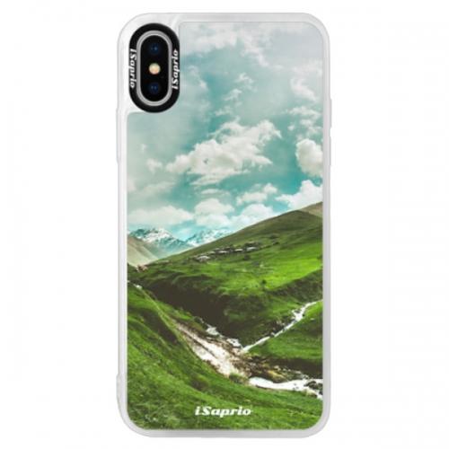 Neonové pouzdro Pink iSaprio - Green Valley - iPhone XS