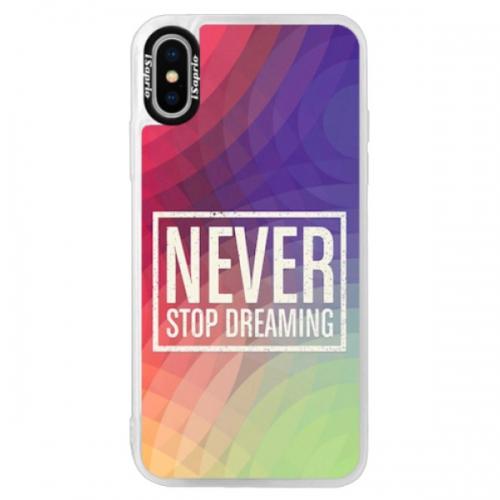 Neonové pouzdro Pink iSaprio - Dreaming - iPhone XS