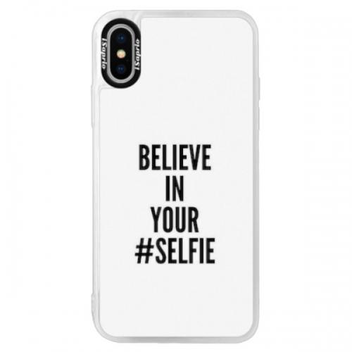 Neonové pouzdro Pink iSaprio - Selfie - iPhone XS