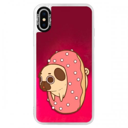 Neonové pouzdro Pink iSaprio - Dog 04 - iPhone XS