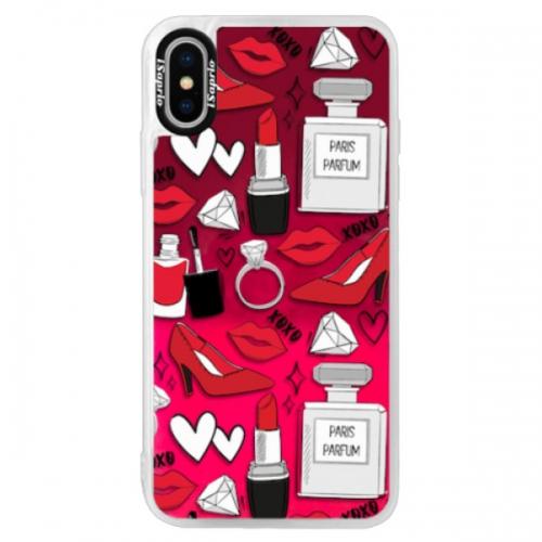 Neonové pouzdro Pink iSaprio - Fashion pattern 03 - iPhone XS