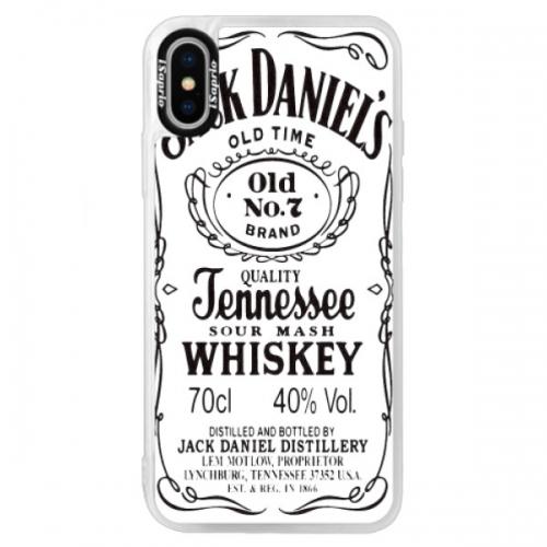 Neonové pouzdro Blue iSaprio - Jack White - iPhone XS