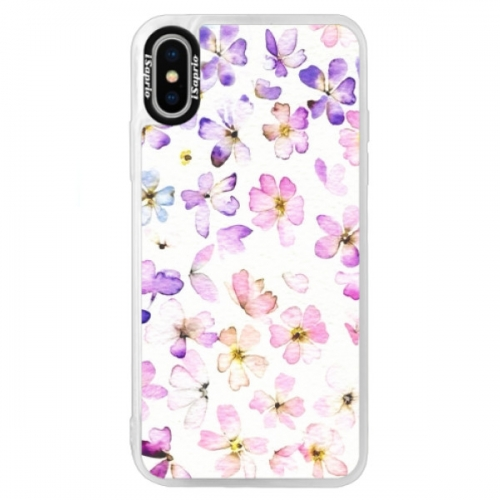 Neonové pouzdro Blue iSaprio - Wildflowers - iPhone XS