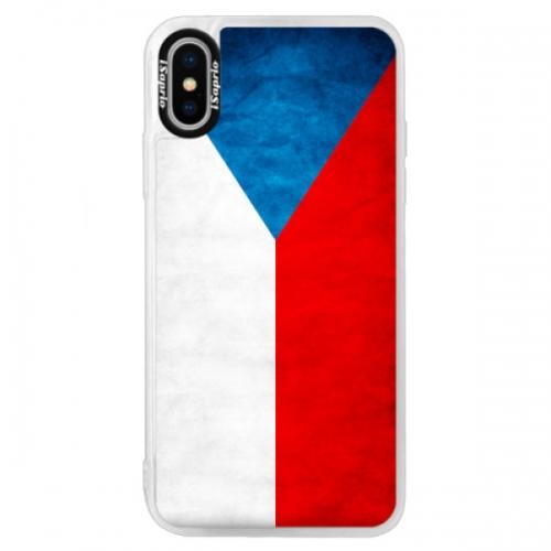 Neonové pouzdro Blue iSaprio - Czech Flag - iPhone XS