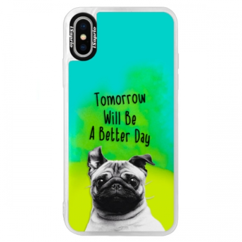 Neonové pouzdro Blue iSaprio - Better Day 01 - iPhone XS
