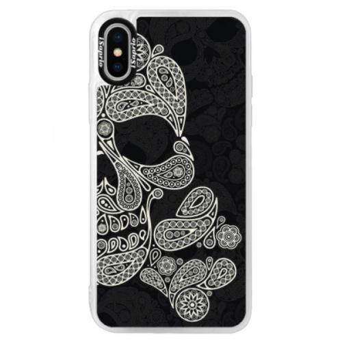 Neonové pouzdro Blue iSaprio - Mayan Skull - iPhone XS