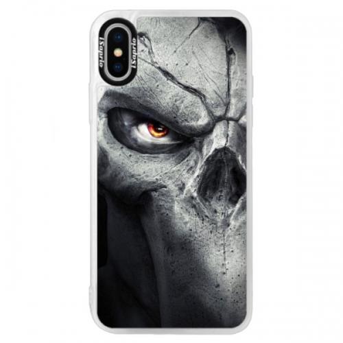 Neonové pouzdro Blue iSaprio - Horror - iPhone XS