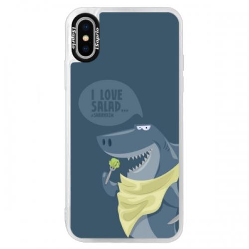 Neonové pouzdro Blue iSaprio - Love Salad - iPhone XS