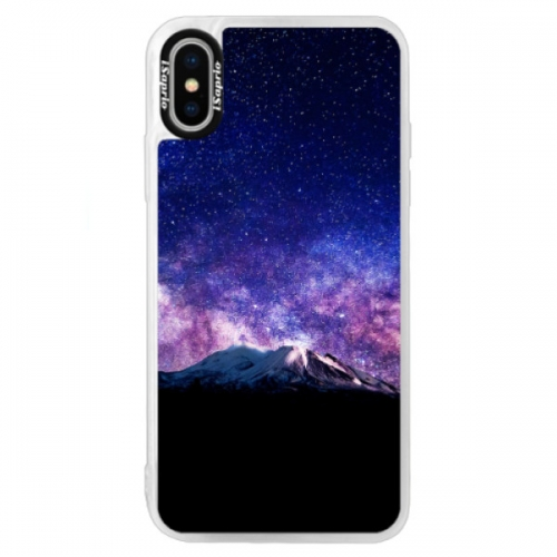 Neonové pouzdro Blue iSaprio - Milky Way - iPhone XS