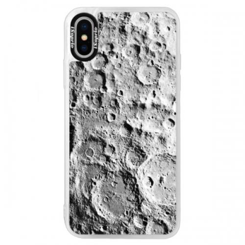Neonové pouzdro Blue iSaprio - Moon Surface - iPhone XS