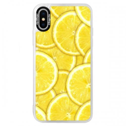 Neonové pouzdro Blue iSaprio - Yellow - iPhone XS