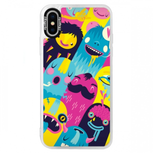 Neonové pouzdro Blue iSaprio - Monsters - iPhone XS